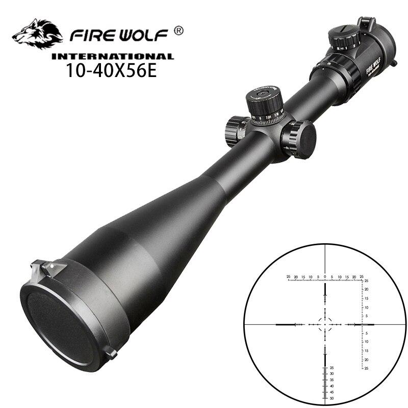 Fire wolf-بندقية هوائية ، سلاح ناري تكتيكي 10-40X56 E ، بصريات نقطة حمراء وخضراء ، تكبير عالي ، بصريات بندقية