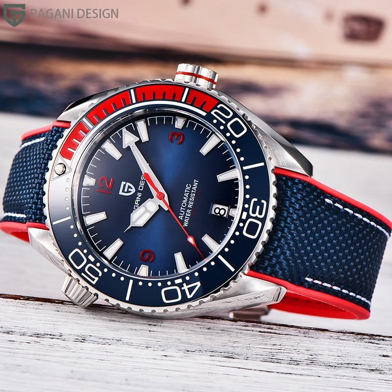 PAGANI DESIGN Diving Ocean Universe Mechanical Watches Sapphire Glass NH35A Gradient Bezel Automatic Men's Watch Reloj Hombre