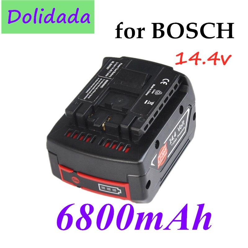 14.4V 6800mah Rechargeable Li-ion Battery Cell Pack for BOSCH Cordless Electric Drill, Screwdriver BAT607 BAT607G BAT614 BAT614G