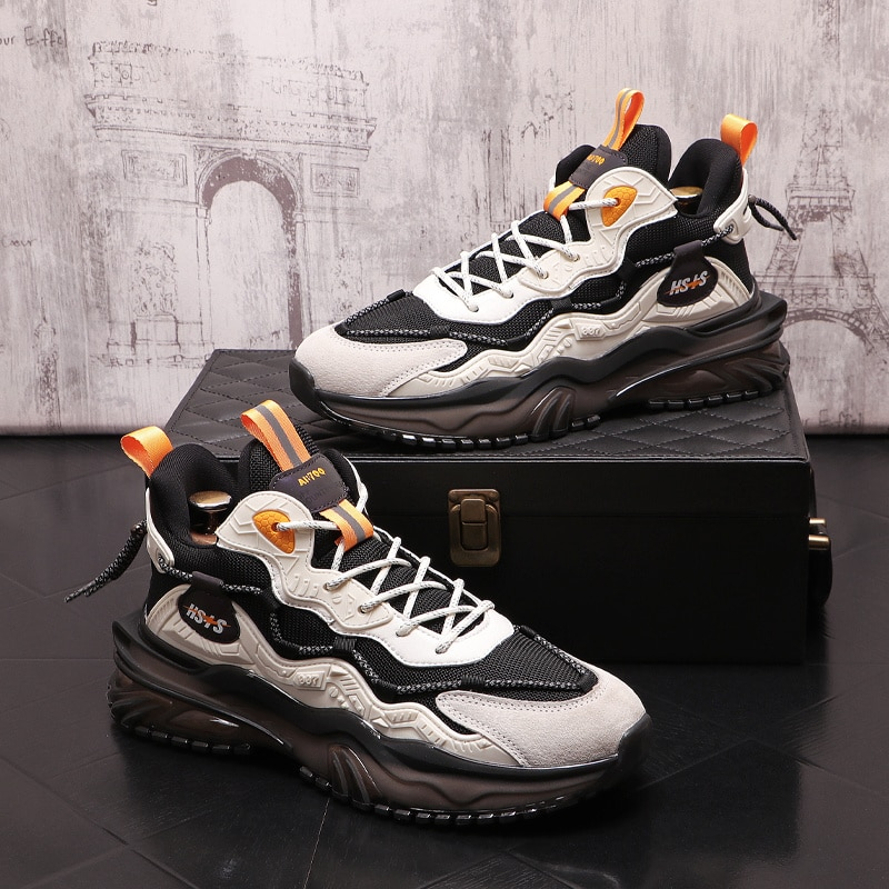 2021 design men casual flats shoes breathable white Sneakers shoes Punk hip hop platform sneakers Ai