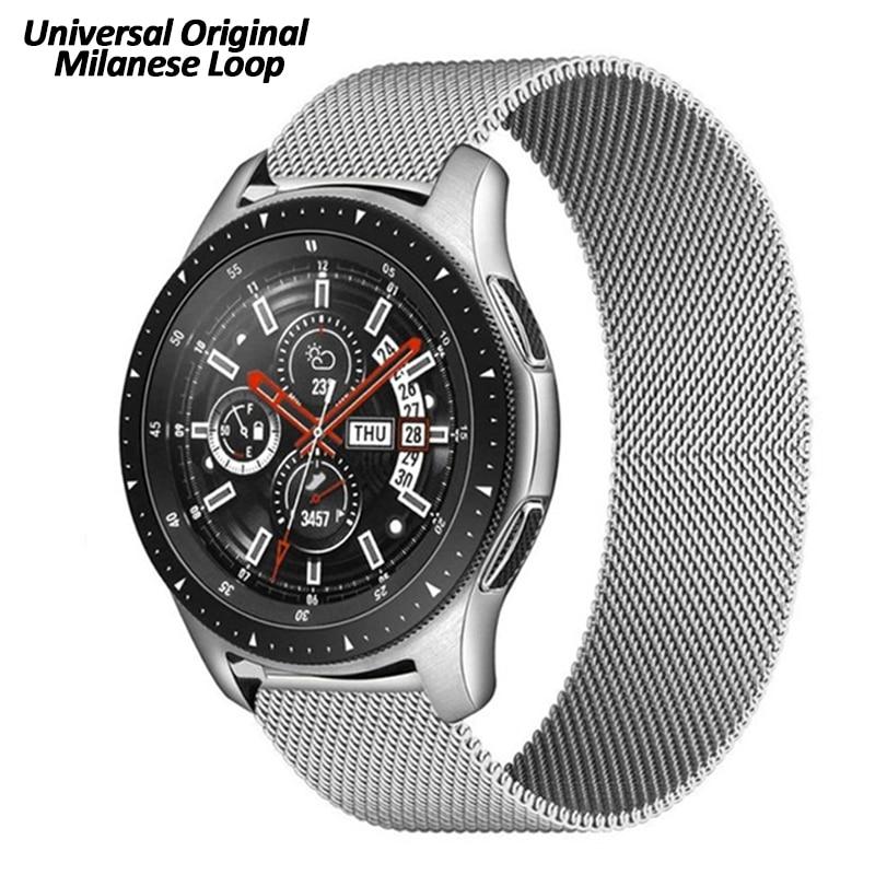 Correa Milanesa de 20mm y 22mm para reloj Samsung Galaxy, banda magnética...