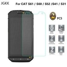 JGKK 2 sztuk dla kota S52 S60 S61 S41 S31 2.5D ochronne szkło hartowane na ekran filmu dla Celular Caterpillar Cat S60 folia ochronna