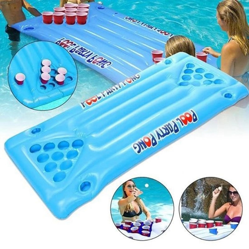 PVC Cup Cave Floor Table beer pong beer pong table pool accessories pool toys for teens and adults pool games pool floaties