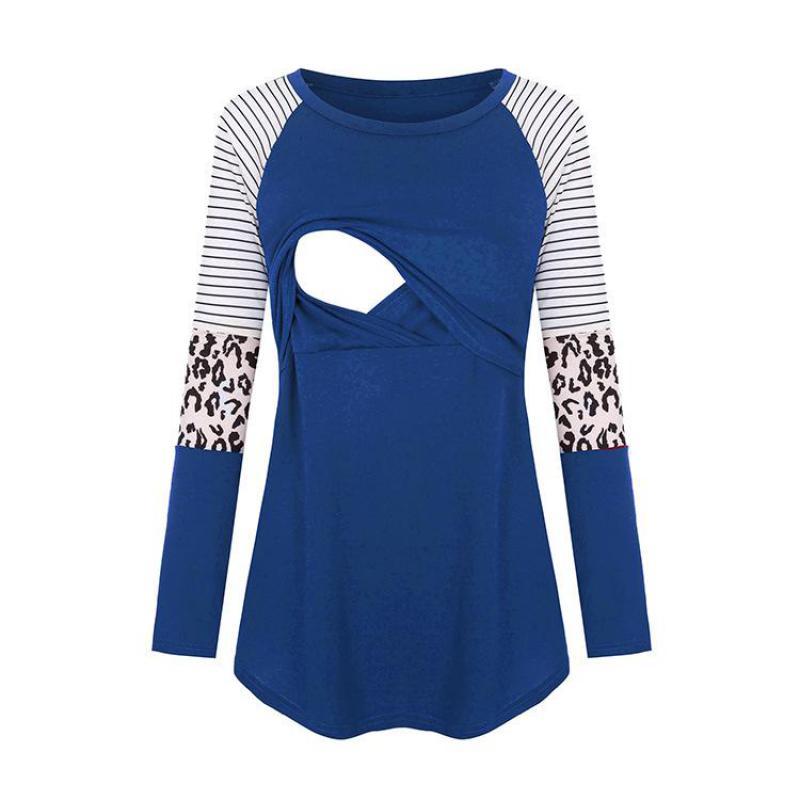 2021 Pregnant Tshirt Women Mom Maternity Nursing Baby Long Sleeved Stripe Tops Maternidad Ropa Lactancia Breastfeeding T Shirt enlarge