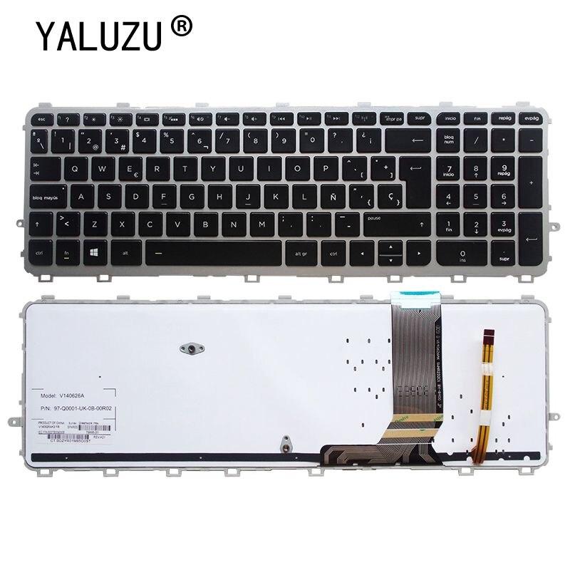 لوحة مفاتيح الكمبيوتر المحمول YALUZU الإسبانية لـ HP envy 15-J 17-J 15T-J 15Z-J 15-J000 15t-j000 15z-j000 15z-j000 15-j151sr SP بإضاءة خلفية