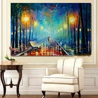 modern canvas painting hand painted oil painting lovers walking pictures landscape painting abstract art home hotel decoration