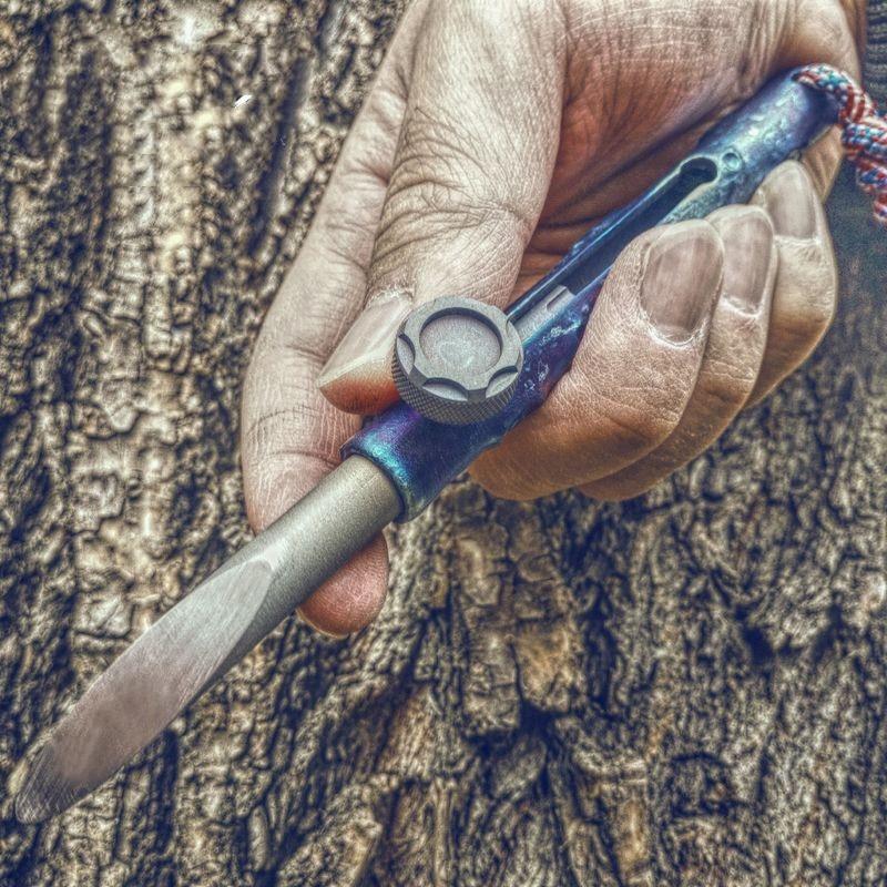 Titanium Tactical Cool Stick Gun Bolt K Stick Knife EDC Bamboo Self-defense Outdoor Hiking Camping Escape Weapon