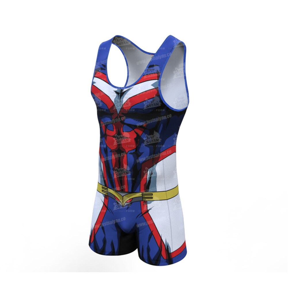 My Hero Academia All Might Cosplay Costume 3D Spandex Zentai Bodysuit Suit Jumpsuits Halloween Playsuit For Adults venom costumes custom 3d printed symbiote cosplay costume zentai spidey suit for adults kids children