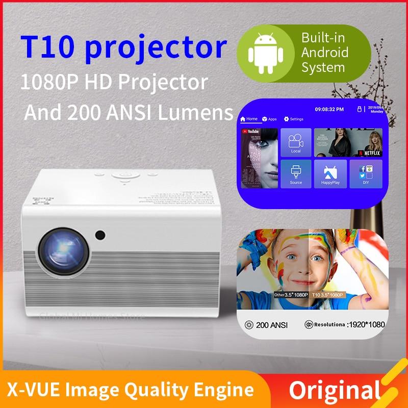 1080P جهاز عرض (بروجكتور) ليد كامل HD 1080P Proyector HDMI المتوافق الأصلية 1920x1080P 3D المسرح المنزلي Andriod نظام ضوئي