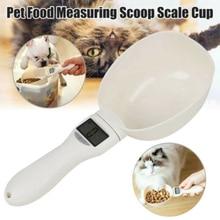 Cuchara de medición de agua de alimentos para mascotas portátil de 250 ML/800G con pantalla Digital Led báscula de cocina cuchara suministros de alimentación para mascotas