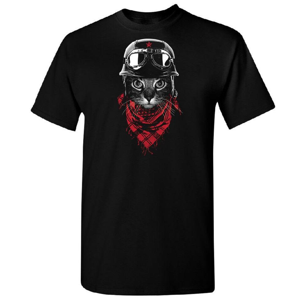 Bandana Cat camiseta para hombre moda elegante 2019 marca camiseta nueva calidad camiseta de alta calidad