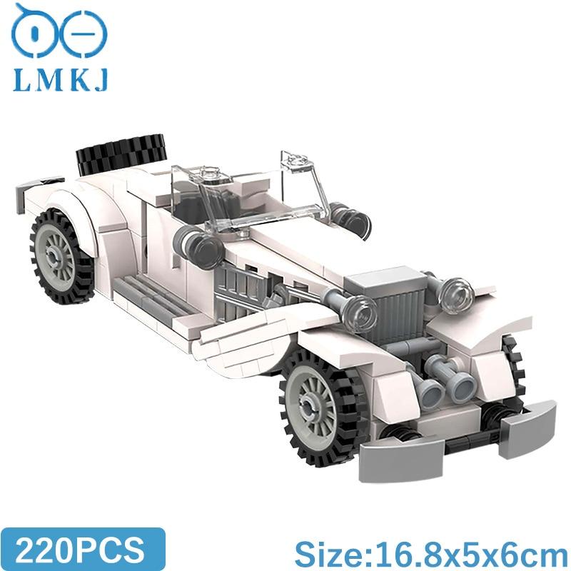 Высокотехнологичные блоки MOC, Классическая модель автомобиля 500K, строительные блоки, блоки, развивающие игрушки «сделай сам» для детей, рож...