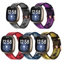 Нейлоновый холщовый ремешок для часов Fitbit Versa Sense, сменный ремешок для умных часов Fitbit Versa3 / Fit bit Versa 3