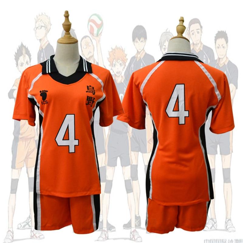 Haikyuu Cosplay Костюм Karasuno, старшая школа, волейбол, клуб Hinata Shyouyou, спортивная одежда, трикотажные изделия, аниме, униформа