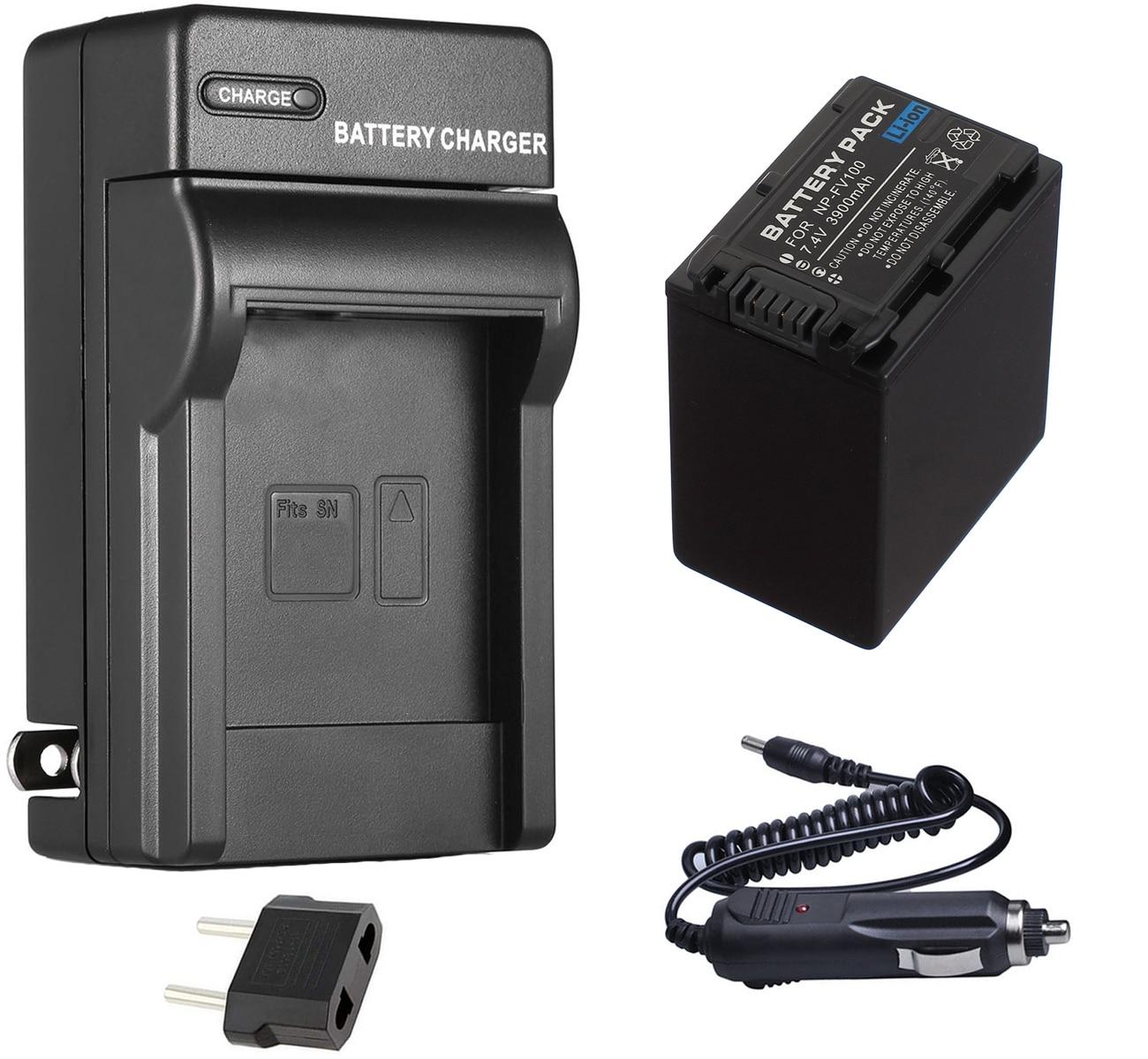 Paquete de baterías + cargador para Sony Handycam HDR-CX110, HDR-CX130, HDR-CX150, HDR-CX155,...