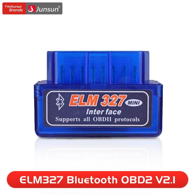 Scanner automático mini elm327 bluetooth obd2 v2.1 adaptador ferramenta de diagnóstico do carro ferramenta digitalização para junsun dvd