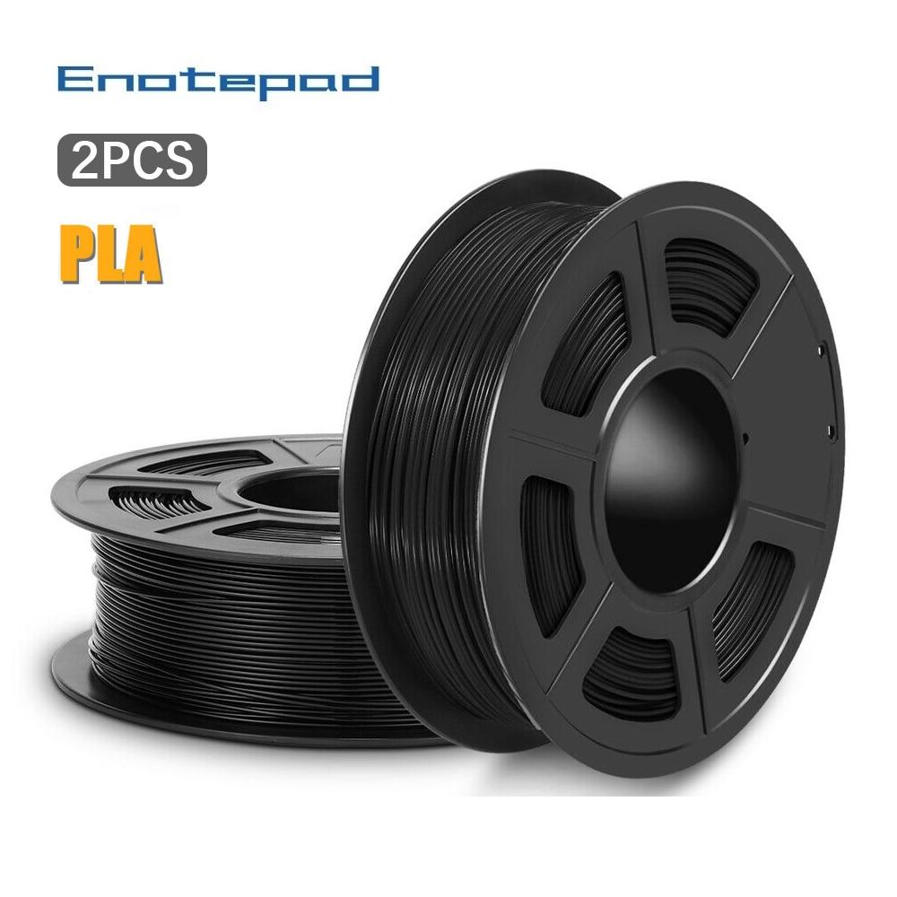 Enotepad PLA خيوط 2 كجم 1.75 مللي متر للطابعة ثلاثية الأبعاد 100% لا فقاعة خيوط طباعة بلاستيكية ذات جودة ممتازة للأطفال خربشة
