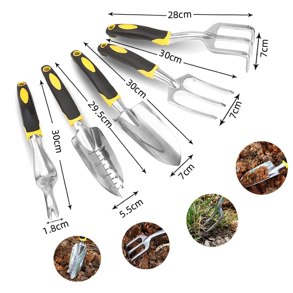 TAITU Garden Tool Hand Trowel Bonsai Shovel Rake,Cultivator,Weeder Tools With Ergonomic Handle,Garden Lawn Farmland Transplant