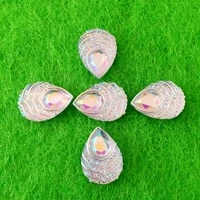 40pcs 1318mm ab resin tear drop rhinestone flatback stones and crystals costume button accessories he19