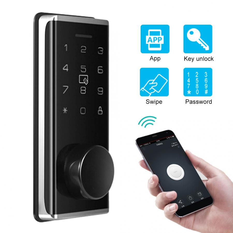 Автоматический интеллектуальный замок с паролем, электронный Внутренний дверной замок с приложением