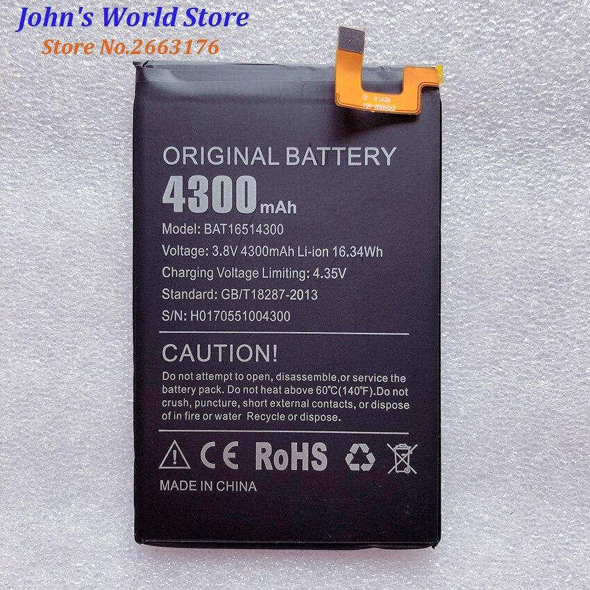 100% nuevo Original Doogee Y6 Max BAT16514300 reemplazo de batería 4300mAh piezas de teléfono inteligente Bateria Baterij en Stock