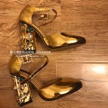 Kristall Pumpen Frauen Party Schuhe 10cm Goldene High Heels Größe 35-42 Sexy Pumpe T-Strap Damen echtem Leder Partei Schuhe