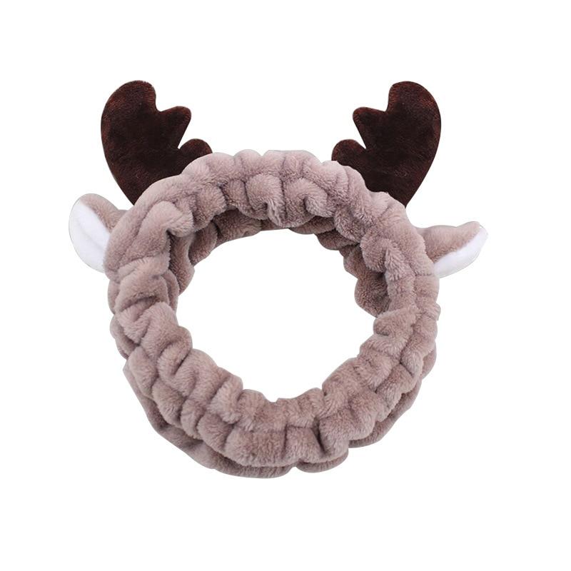 Cartoon Cute Girl Antlers Hair Bundle Wash Face Makeup Plush Headband European and American Fresh Rabbit Ears Hair Accessories недорого