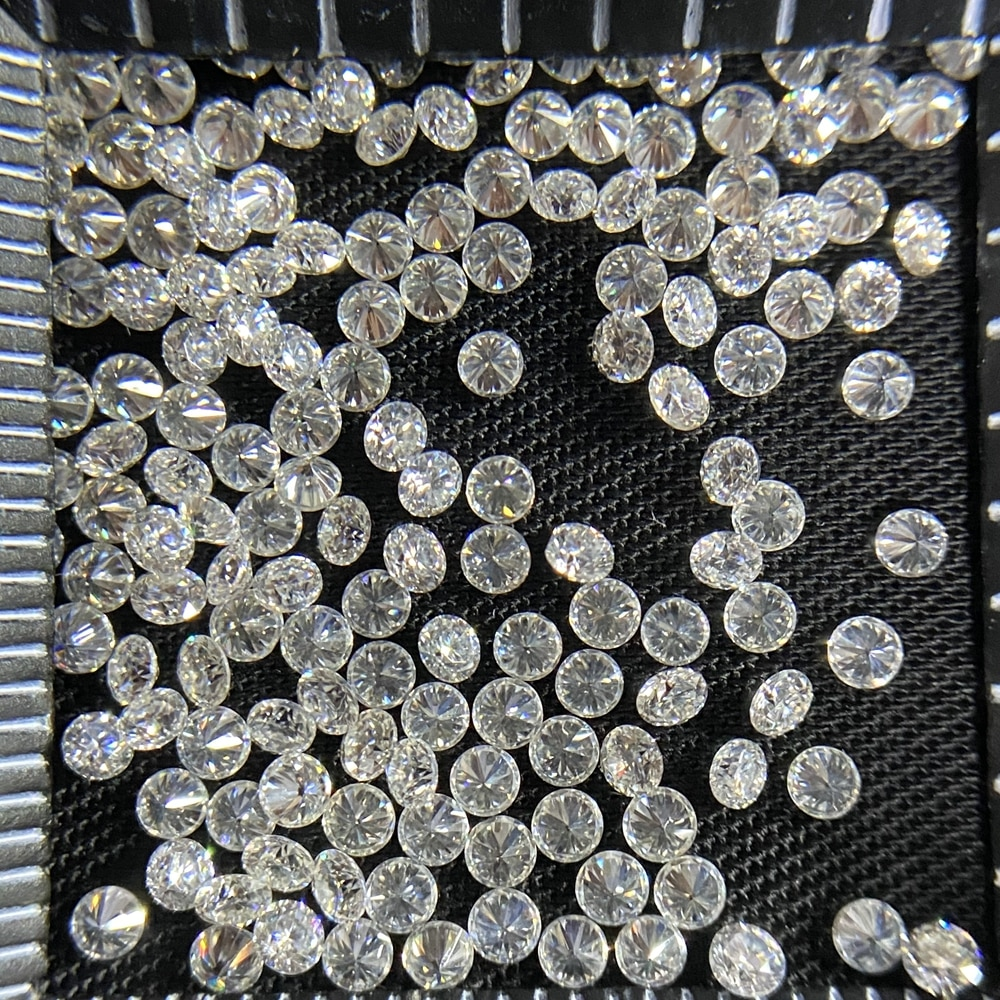 6 قطع HPHT 3.5 مللي متر مختبر نمت VS وضوح D اللون الجولة الأبيض الماس سعر للقيراط