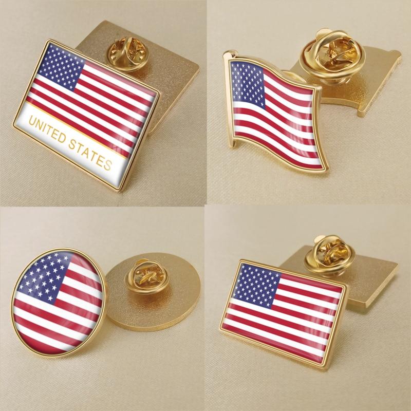 США американская брошь в виде флага/значки/нагрудные булавки