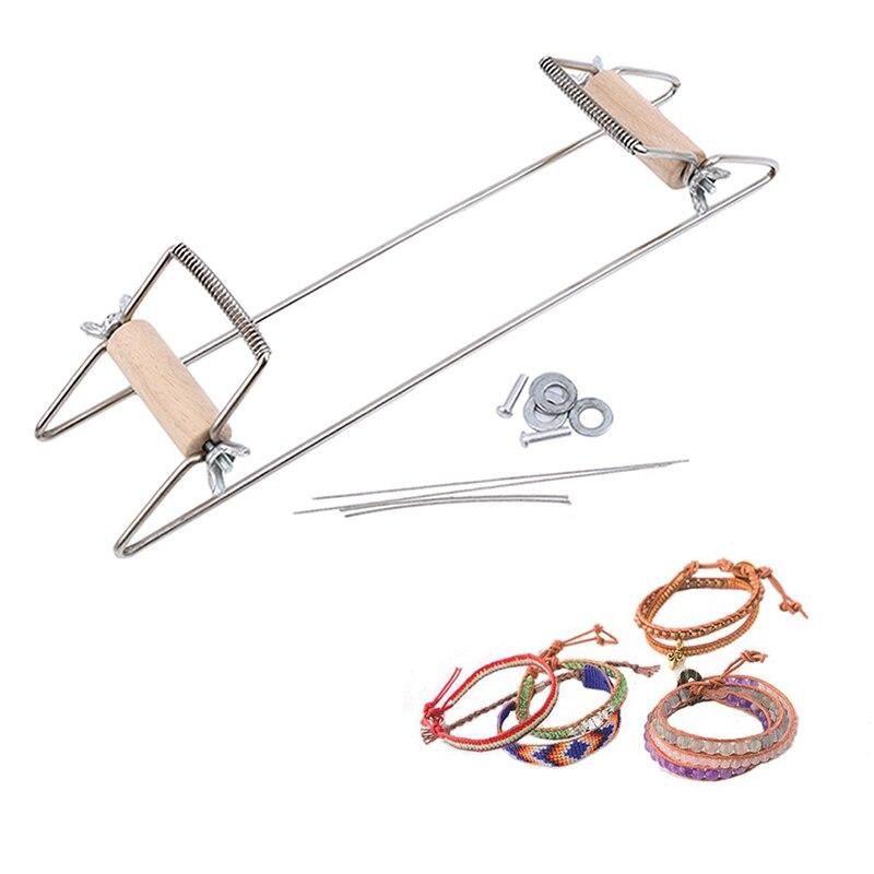 Telar de cuentas tejido de madera para joyería collares pulseras hacer DIY hecho a mano máquina de tejer mejores regalos para niños herramientas para el hogar