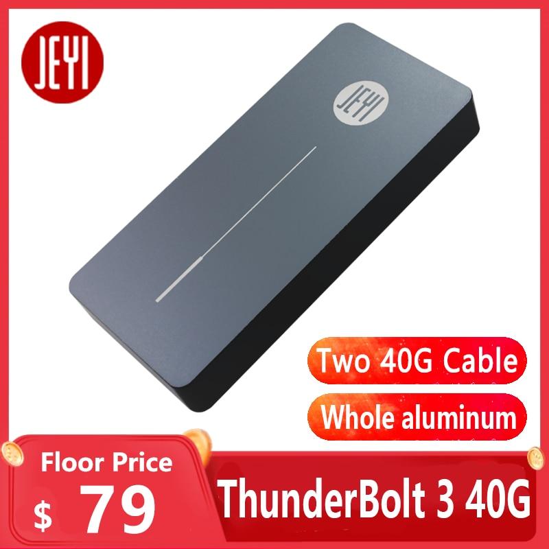 Jeyi Thunderbolt 3 M.2 Nvme Behuizing Mobiele Box Case Nvme Om TYPE-C Aluminium Type C3.1 M.2 USB3.1 M.2 Pcie U.2 Ssd LEIDIAN-3