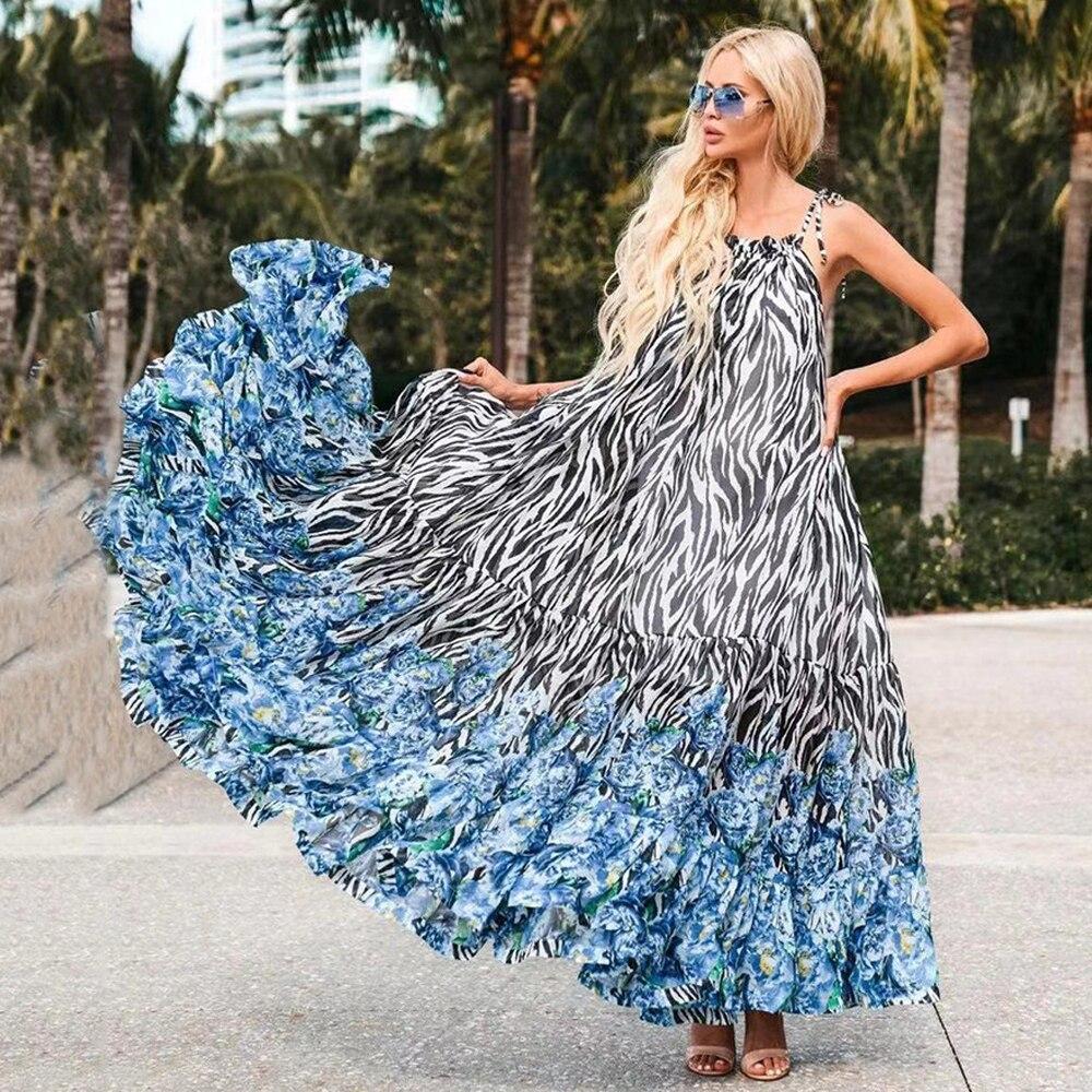 MD الأفريقية الأزهار طباعة بوهو فساتين للنساء أكمام الشيفون حجم كبير boubu جنوب أفريقيا 2021 ملابس الصيف رداء حفلات