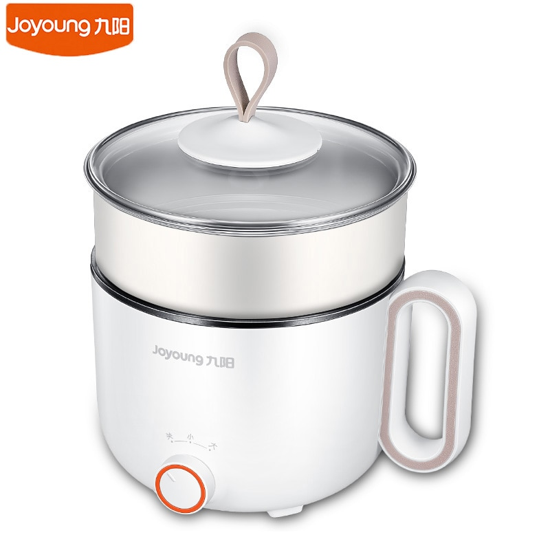 1-2 personas sartén eléctrica Joyoung 220V olla de cocina multifunciones Cocina eléctrica de escritorio Mini olla de vapor