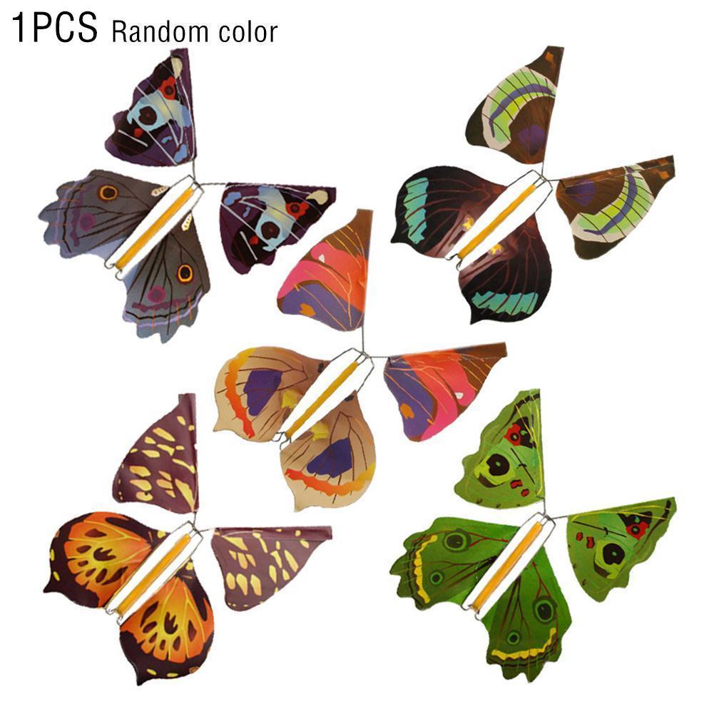 Летающие бабочки, металлические бабочки, волшебные рандомные цвета, детская игрушка, модель оптом