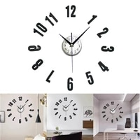 large wall clock 3d wall clocks walls decoration stickers living room decoration accessories fping