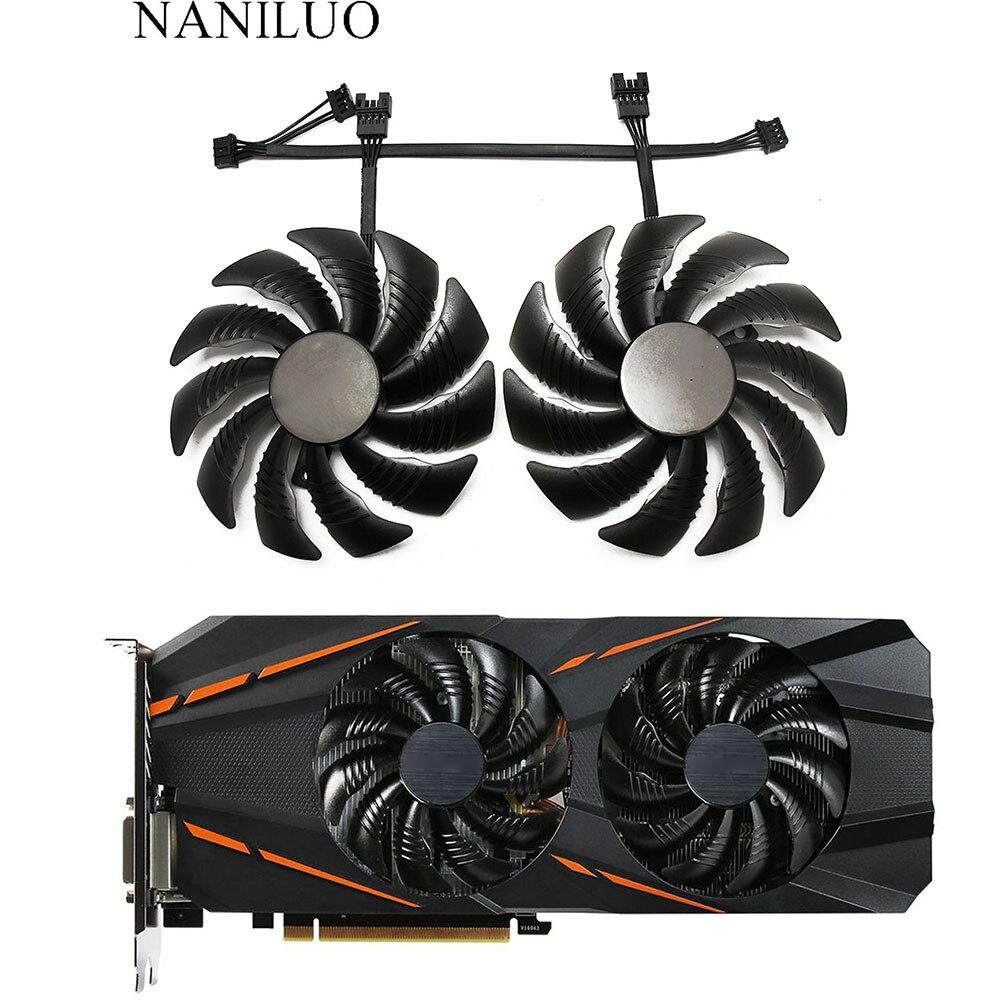 88 мм PLD09210S12HH T129215SU 4Pin кулер вентилятор для Gigabyte GeForce GTX1060 1070 GTX 1050ti GTX 960 RX570 RX470 видеокарта