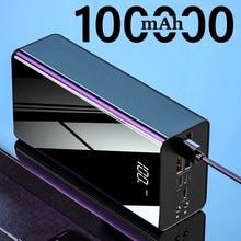 100000mAh Power Bank For Xiaomi Huawei iPhone Samsung Powerbank USB PoverBank Portable Charger Exter