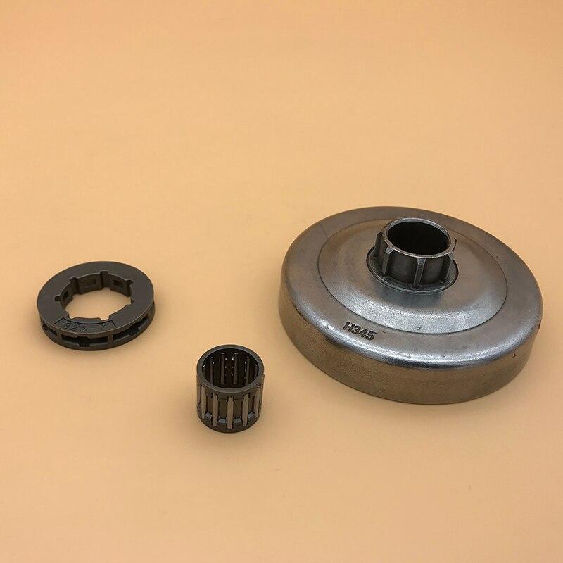 """Hundure. 325 """"-7 t cilindro de embreagem roda dentada aro rolamento de agulha caber husqvarna 350 351 353 340 345 346 peças de acionamento de corrente motosserra"""