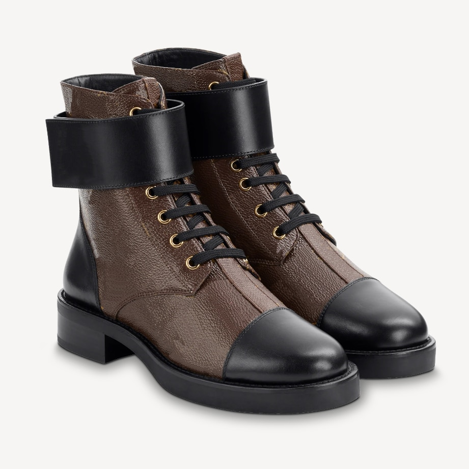 Fashion Lace Up Women's Shoes Female Genuine Leather Flat Platform Boots Warm Women Shoe Autumn Winter Luxury Brands Ankle Boots