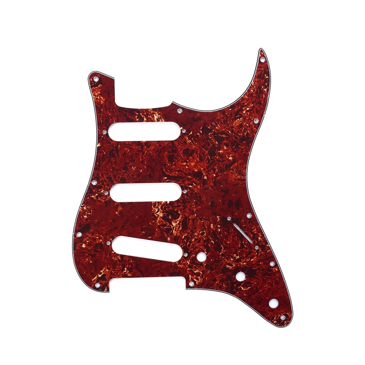 Musiclili SSS 11 agujero Strat guitarra Pickguard para Fender USA/mexicano hecho estándar...