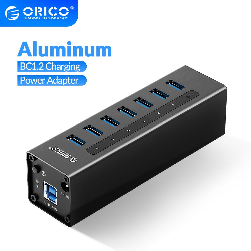 sipolar usb 10 port hub 2 0 charger with 12v 10a power adapter data transfer syncs and charging for cryptocurrency miners a 400 ORICO A3H Series Aluminum High Speed 4/7/10 Port USB 3.0 HUB with 12V Power Adapter Support BC1.2 Charging Splitter for MacBook