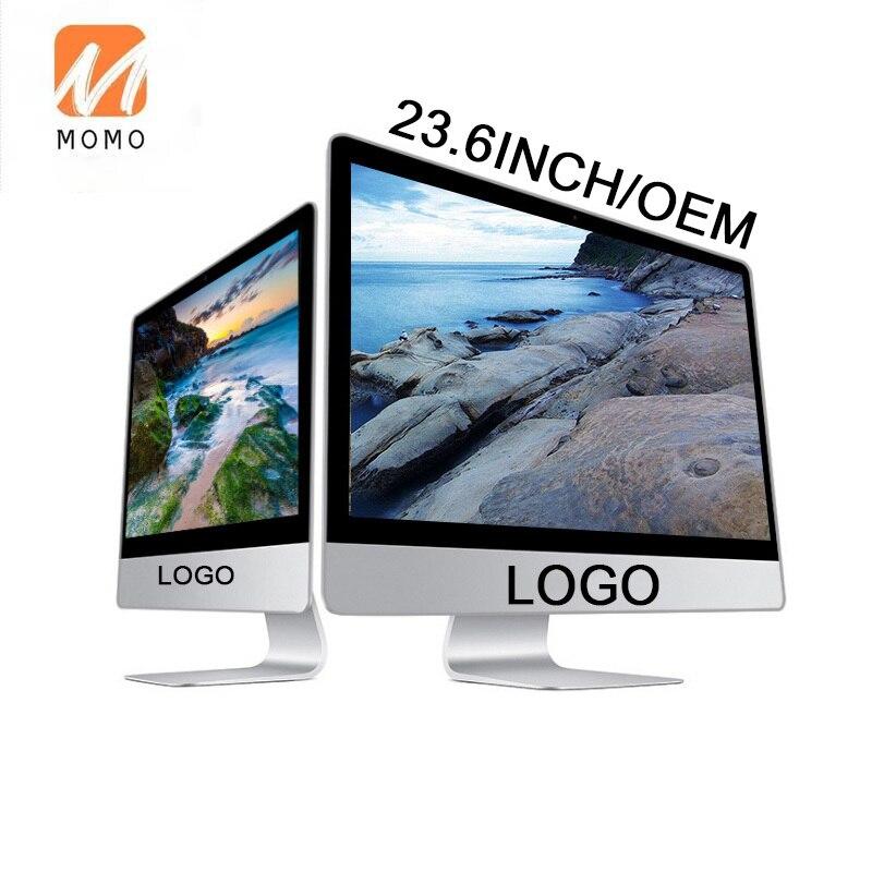 23.6 بوصة AIO Core CPU I3 I5 I7 سطح المكتب التجاري 1920*1080P HD الرسومات الكل في واحد كمبيوتر مدمج