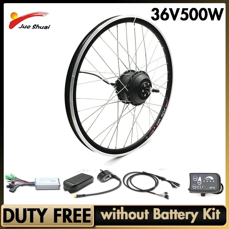 EBike Conversion Kit 36V 500W Electric Bicycle Max 50km/h Hub Motor 20 26 27.5 700C Front Rear Motor Wheel For Free Shipping
