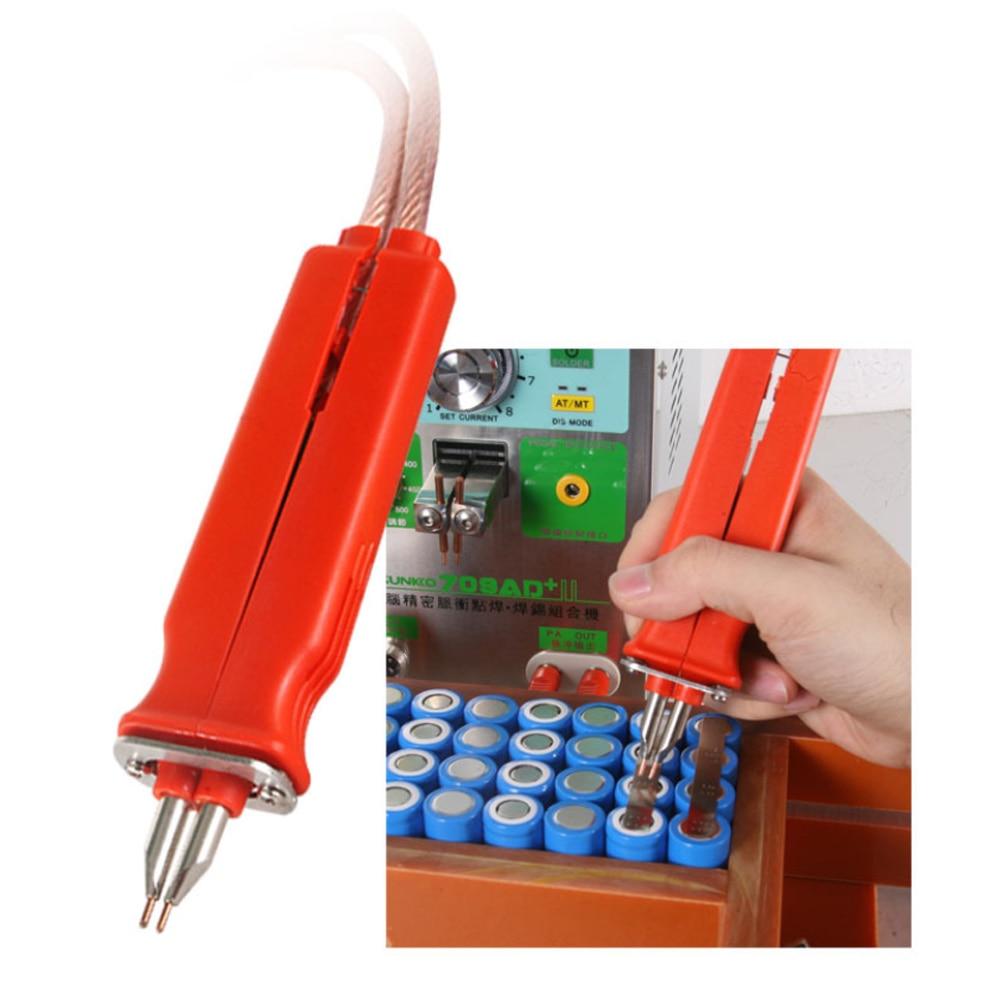 SUNKKO 709A 719A HB-70B Adjustable Universal Welding Pen for Lithium 18650 Battery Spot Welder + 5Pair Small Welding Pin