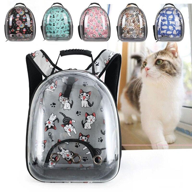 القط الكلب على ظهره الناقل شفافة مع نافذة الموضة نقل رائد الفضاء تحمل للقطط منتجات الحيوانات الأليفة حقيبة السفر