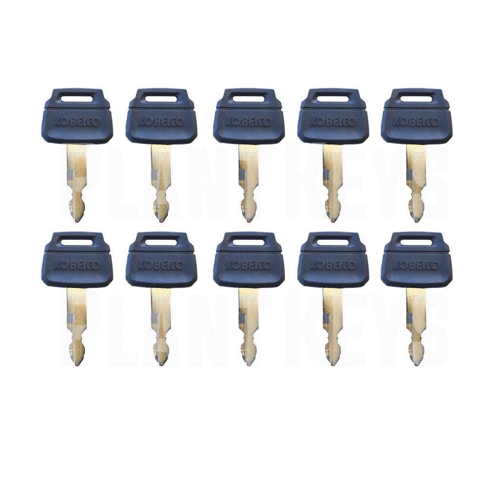 (10) ключи для тяжелого оборудования для Kobelco ExcavatoOEM Logo K250 fit Case Kawasaki New Голландии