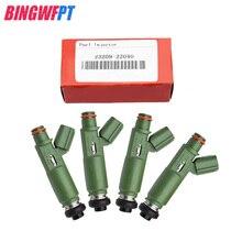 4 шт./лот топливных форсунок с красной коробкой 23250-22040 23209-22040 2325022040 для Corolla Matrix Celica для Vibe Chevy 1.8L