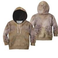 beautifull baby chicken cover hoodies t shirt 3d printed kids sweatshirt jacket t shirts boy girl funny animal cosplay costumes