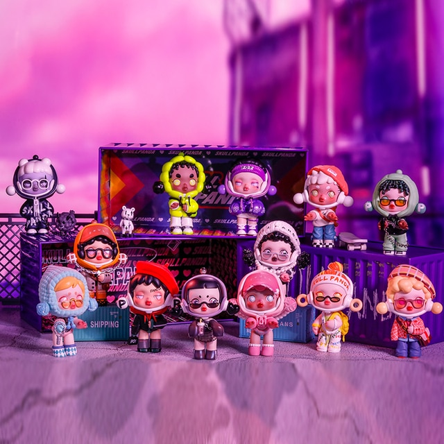 POPMART Skullpanda Hypepanda Series Blind Box Doll Binary Action Toys Figure Birthday Gift Kid Toy 2