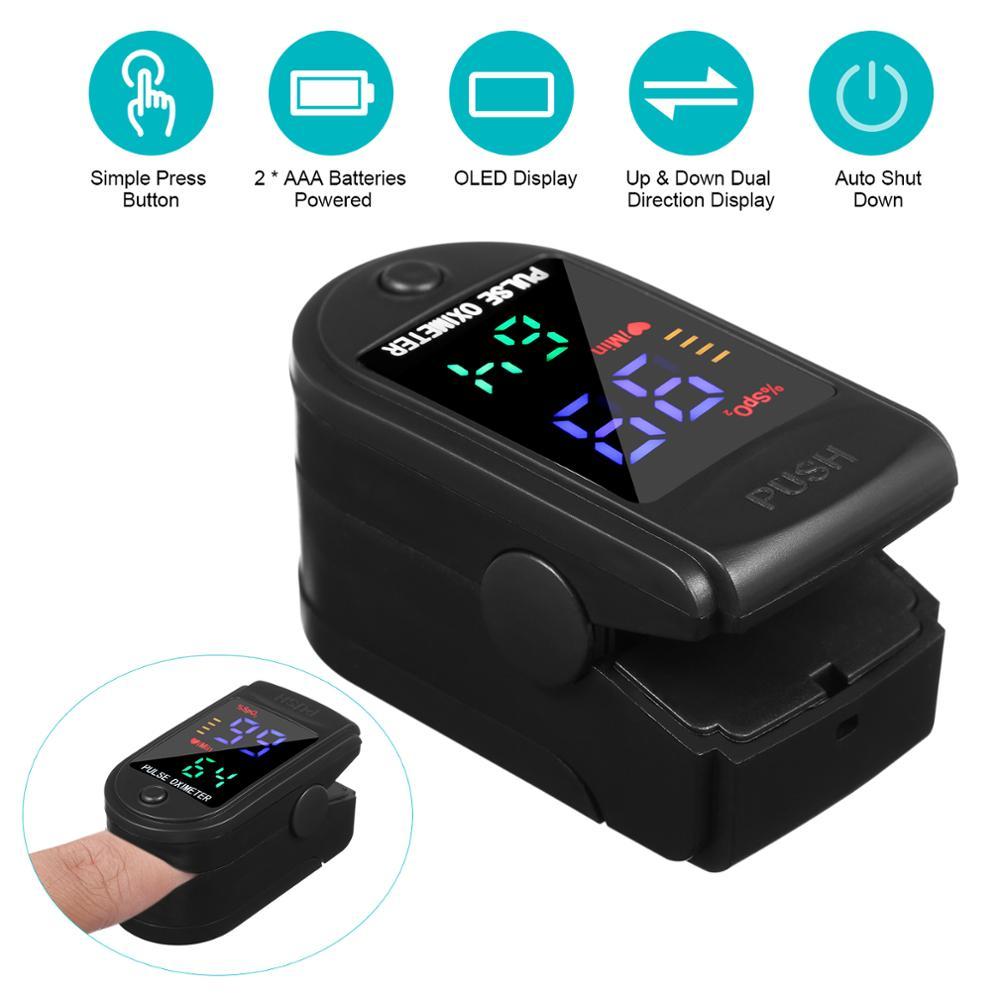 Household Digital Finger Pulse Oximeter Blood Oxygen Saturation Meter heart rate Monitor Health Care tonometer pulsoksymetr